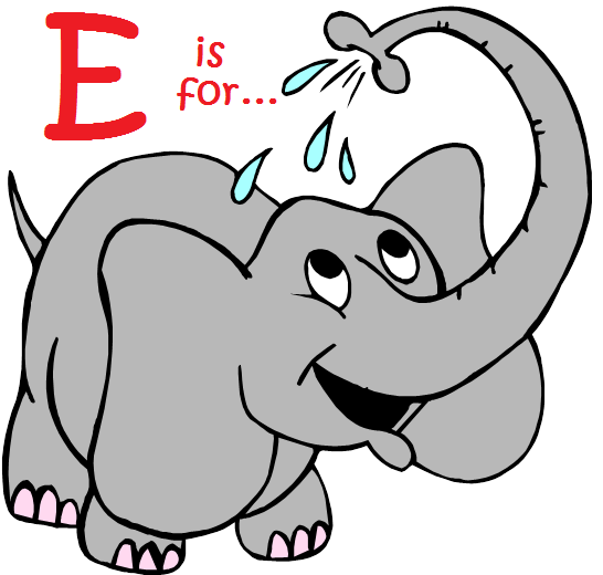 Letter E Is For Elephant Week Is Next Park Prep